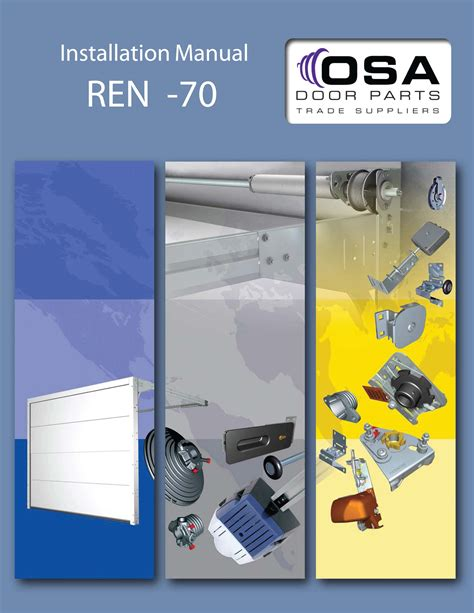 Overhead Door Installation Manual Garage Door Installation Manuals 187 Osa Door Parts Limited