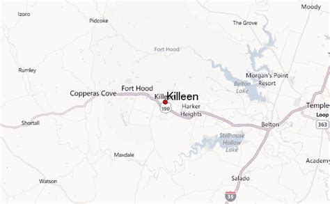 map killeen texas killeen location guide