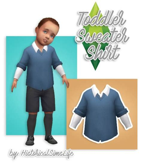 Sweater Cc sims 4 cc s the best toddler sweater shirt by