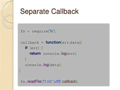node js callback tutorial avoiding callback hell in node js using promises