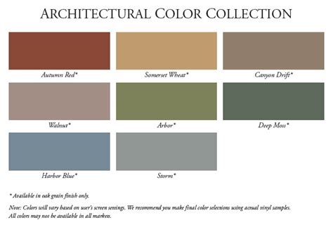 siding color chart studio design gallery best design