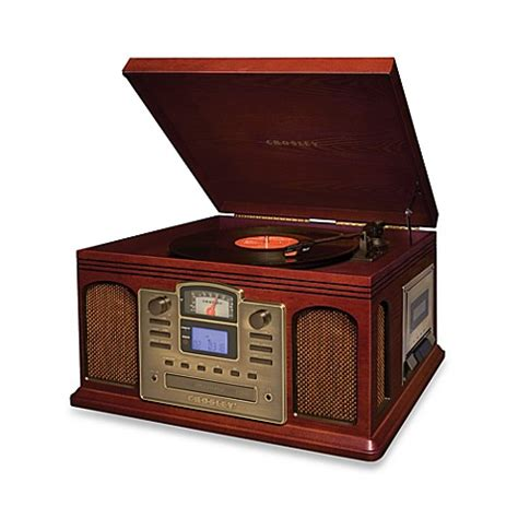 bed bath and beyond turntable buy crosley turntable cd and cassette unit cr2405a in