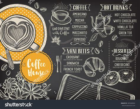 design coffee shop menu layout coffee restaurant brochure vector coffee shop stock vector