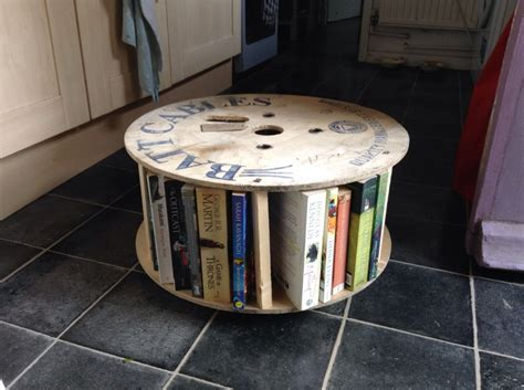 cable reel bookcase coffee table the shop at forty