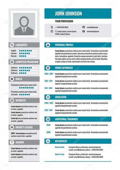 Modelo Curriculum Vitae Empresarial Conceptualizaci 243 N Vector Curriculum Vitae Cv En Formato A4 Curriculum Empresarial