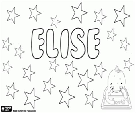 Girl names with E coloring pages printable games #2