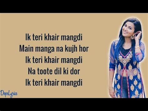 khair mangdi version lyrics sandcastles original teri khair mangdi vidya vox m