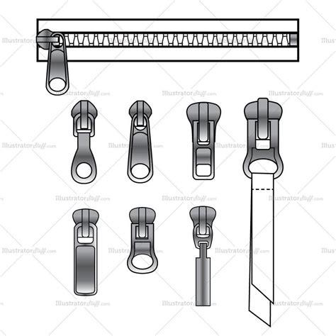 zipper pattern vector zipper pull variety and zipper brush pattern illustrator