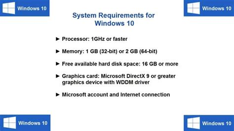 minimum ram requirements for windows 7 windows 10 system requirements for fast performance