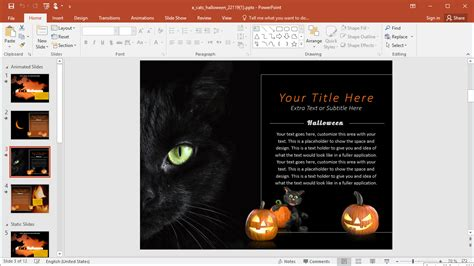 black cat templates for halloween animated black cat powerpoint template