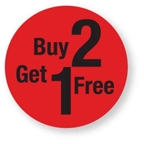 Buy 2 Get 1 Free stock labels gt retail labels gt discount buy 2 get 1 free labels