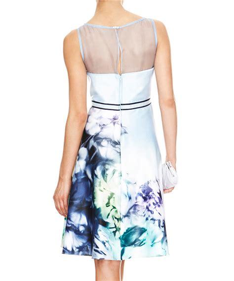 dress natal sateen promo discount avery soft print sateen dress secretsales