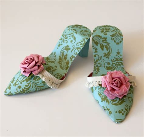 How To Make A Shoe With Paper - diy paper high heel shoes oh my handicrafts