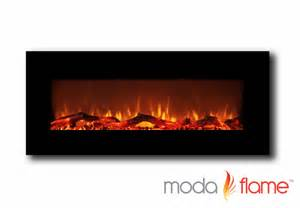 Wall Electric Fireplace Moda Houston 50 Quot Electric Wall Mounted Fireplace Black Ebay