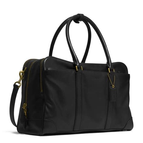 day bags coach bleecker day bag in leather in black for brass
