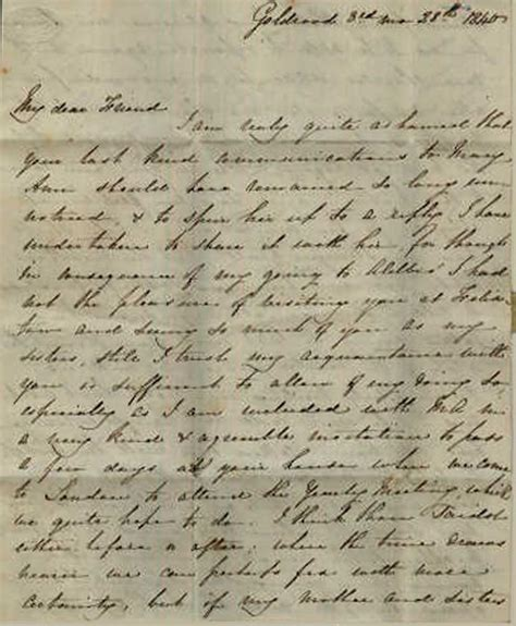 Letter Images Joseph Lister A Quaker Family In Ipswich 1840