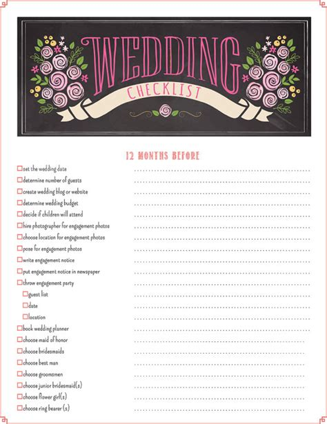 Wedding Coordinator Checklist Pdf by Printable Wedding Checklist Planner