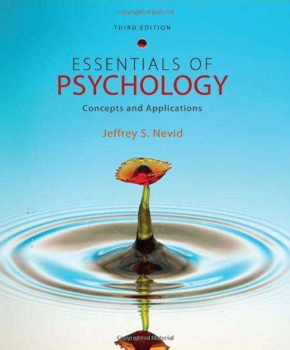 essentials of psychology concepts and applications essentials of psychology concepts and applications