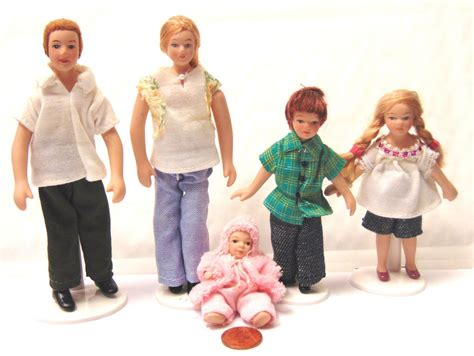 dolls for dolls houses uk 1 12 scale modern jean family people dolls house miniature nursery accessory 122 ebay
