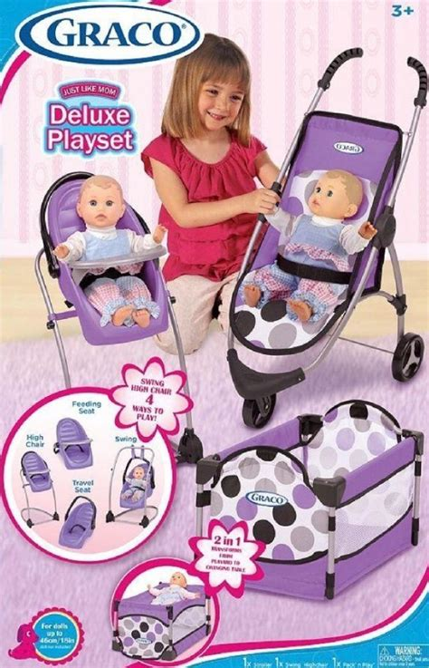 graco baby doll car seat new graco baby doll swing high chair stroller car seat