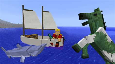 minecraft 1 6 snapshot 13w17a sail boats fishing undead - Minecraft Boat Horse