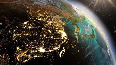 Imagenes Satelitales Planet | planeta tierra noche y amanecer utilizando im 225 genes