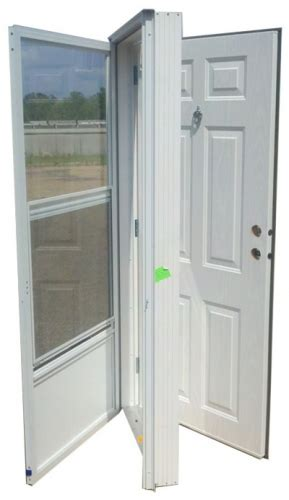 Mobile Home Exterior Doors Cheap Vinyl Steel Combination Door For Mobile Home W Knocker Viewer Mobile Home Supplies