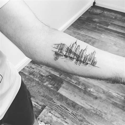 Nyc Tattoo Pinterest | best 25 skyline tattoo ideas on pinterest city tattoo