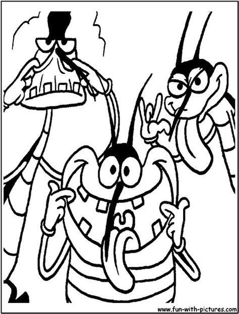 oggy kakarlake coloring page cartoon network coloring