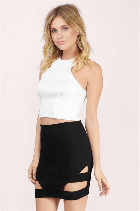 Mini Skirt 1 black skirt cut out skirt mini skirt black mini