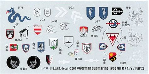u boat emblems ulad type vii c u boat decal pt 2