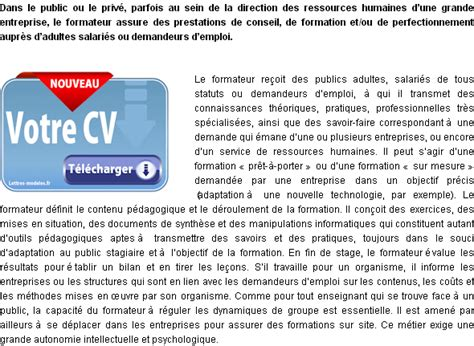Exemple Lettre De Motivation Formateur Mod 232 Le Et Exemple De Lettre De Motivation Formateur