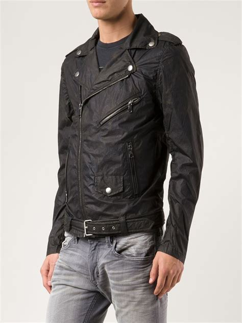 Jacket Hoodies Gojek 06 lyst diesel wind breaker biker jacket in black for