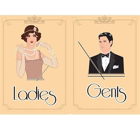 toilet boy kopen 1920 s themed toilet signs ladies gents