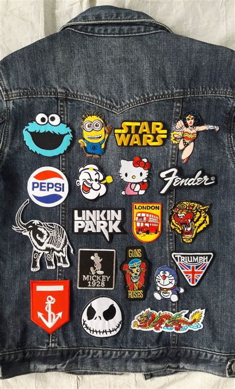 pack of 19 iron on patches 19 embroidered iron on patches set by kodchaphornjacket465 on etsy