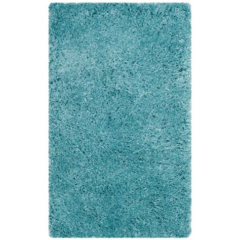 light aqua area rug safavieh polar shag light turquoise 3 ft x 5 ft area rug psg800t 3 the home depot