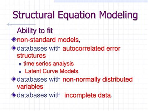Structural Equation Modelling Sem ppt amos analysis of moment structures powerpoint