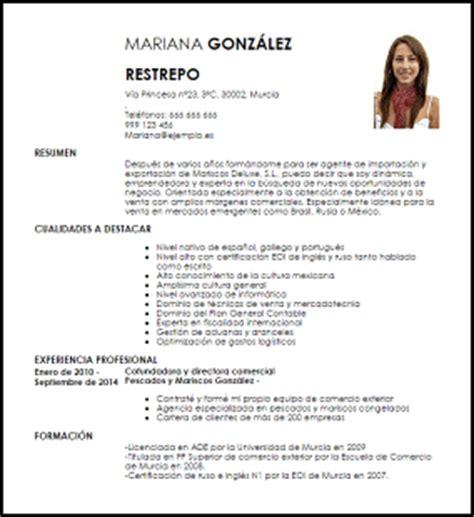 Modelo Curricular Mexicano Modelo Curriculum Vitae Agente De Importaci 243 N Y Exportaci 243 N A 233 Rea Livecareer