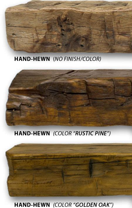 Hand Hewn Fireplace Mantels   Made with Reclaimed Wood