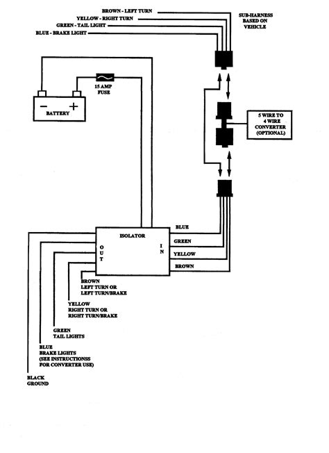 5 wire to 4 wire trailer wiring diagram 5 wire to 4 wire