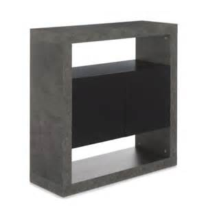 alin 233 a hilo meuble de salon 224 2 portes effet b 233 ton gris