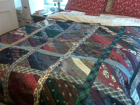 Tying Quilt by Dishfunctional Designs Tie One On Upcycled And