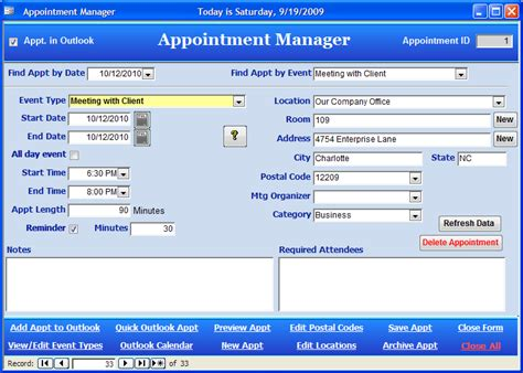 Roger Jennings Access Blog Download The New Free Version Of The Access And Outlook Appointment Microsoft Access 2010 Templates Free