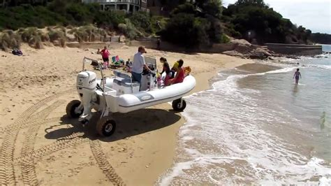 boat with wheels video dinghy with wheels sealegs youtube