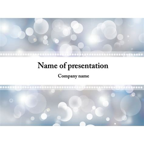 free winter snowflakes powerpoint template background
