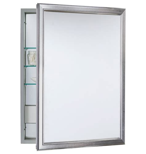Brushed Nickel Medicine Cabinet Framed Medicine Cabinet With Outlet Rejuvenation