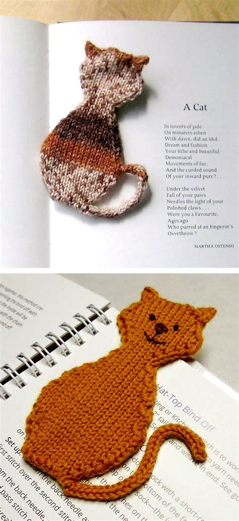 knitted bookmarks free knitting pattern for cat bookmark knitter