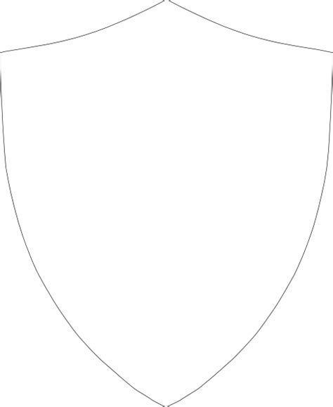 Shield Drawing Template by Shield Outline Clip At Clker Vector Clip