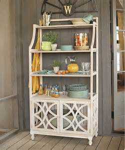 Outdoor Bakers Rack Ideas Ceylon Whitewash Baker S Rack Traditional Towel Racks
