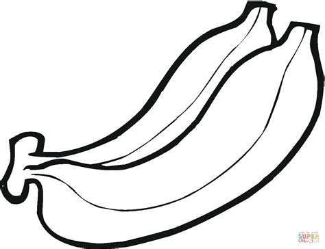 banana coloring page two bananas coloring page free printable coloring pages